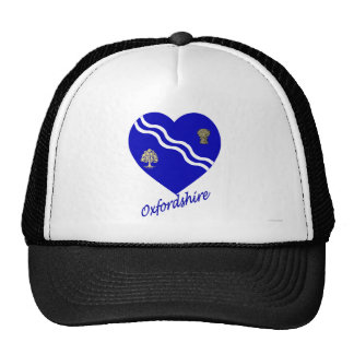 Oxfordshire Flag Heart with Name Mesh Hat