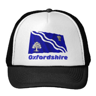 Oxfordshire Waving Flag with Name Trucker Hat