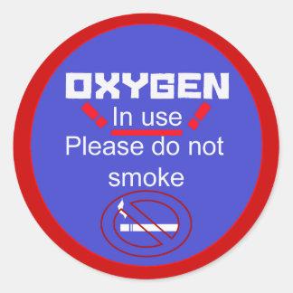 oxygen alert classic round sticker