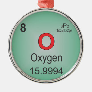 Oxygen Individual Element of the Periodic Table Christmas Ornament