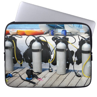 Oxygen Tanks for Scuba Diving in the Caribbean Laptop Sleeve