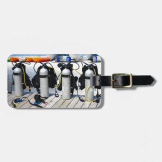 Oxygen Tanks for Scuba Diving in the Caribbean Luggage Tag