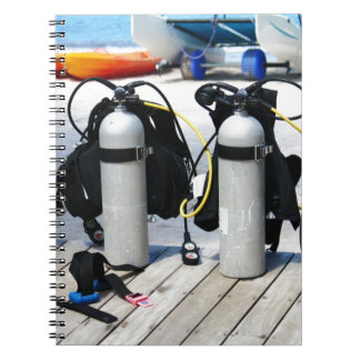 Oxygen Tanks for Scuba Diving in the Caribbean Notebooks