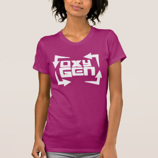 "oxyGEN Womens ""Quote"" Tee - Raspberry Edition"