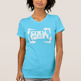 """oxyGEN Womens """"Quote"""" Tee - Turquoise Edition"""