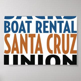 Oxygentees Boat Rental Santa Cruz Poster
