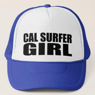 Oxygentees  Cal Surfer Girl Trucker Hat
