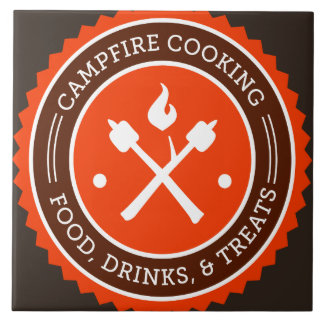 Oxygentees Campfire Cooking Ceramic Tile