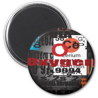 Oxygentees CERIUM 6 Cm Round Magnet