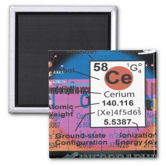 Oxygentees Cerium Square Magnet