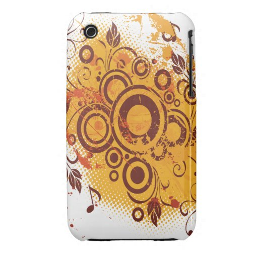 Oxygentees Grunge Floral Case-Mate iPhone 3 Case