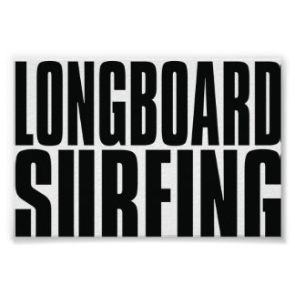 Oxygentees Longboard Surfing Poster