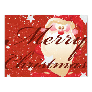 "Oxygentees Merry Christmas Party Invite 6.5"" X 8.75"" Invitation Card"