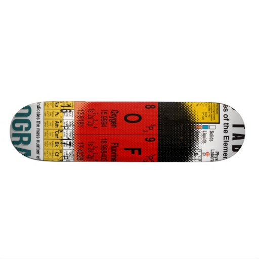 Oxygentees Old School Periodic Table Custom Skate Board