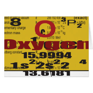 Oxygentees Periodic Table Greeting Card