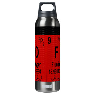 Oxygentees Periodic Table Liberty 16 Oz Insulated SIGG Thermos Water Bottle