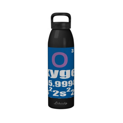 Oxygentees Periodic Table Liberty Water Bottle