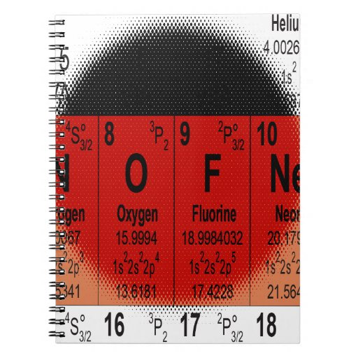 Oxygentees Periodic Table Notebook