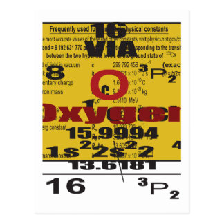 Oxygentees Periodic Table Postcard