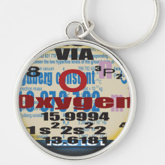 Oxygentees Romberg Constant Silver-Colored Round Key Ring