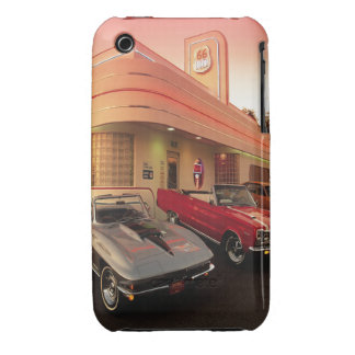 Oxygentees Vintage Drive IN Case-Mate iPhone 3 Case