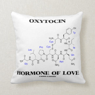 Oxytocin Hormone Of Love (Chemical Molecule) Cushion