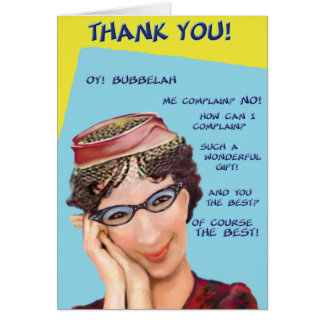 Oy Bubbelah! Thank You Card