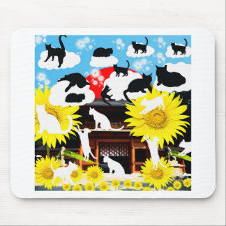 Oyama 祇 shrine and cat mouse pad