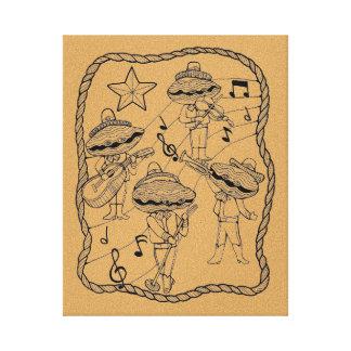 Oyster Band Line Art Design By Suzy Joyner Canvas Print