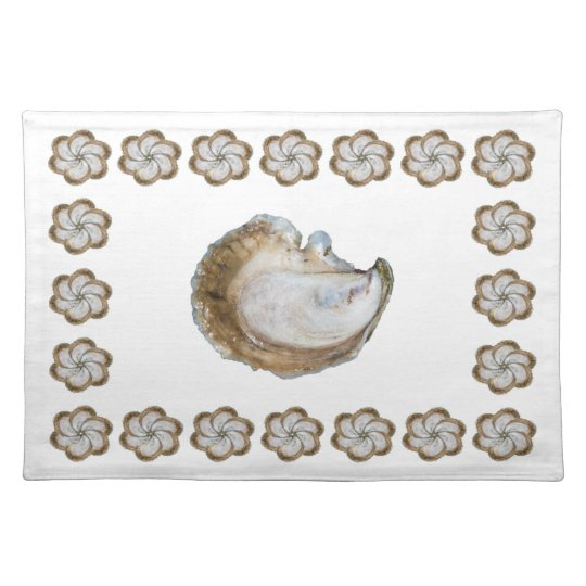Oyster Cotton Placemat - Design C