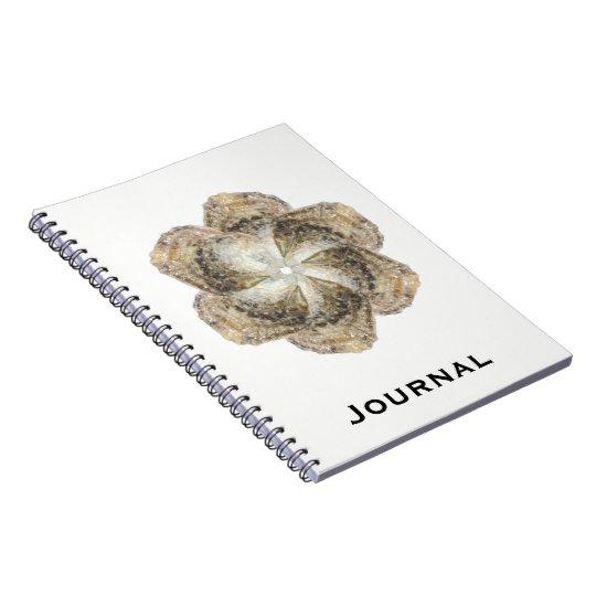 Oyster Flower Notebook - Design B White