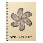 Oyster Flower Notebook - Design D Tan
