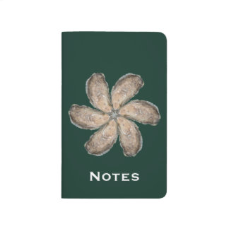 Oyster Flower Pocket Journal - Design D Green