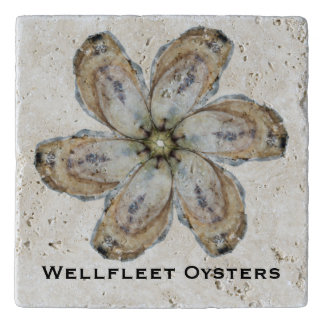 Oyster Flower Stone Trivet - Design A