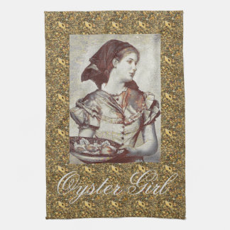 Oyster Girl Victoriana Tea Towel