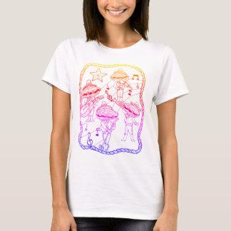 Oyster Mariachi Band Line Art Design T-Shirt