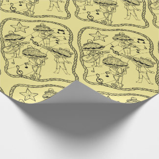 Oyster Mariachi Band Line Art Design Wrapping Paper