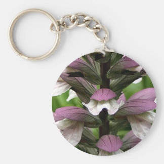 Oyster plant flower in bloom keychain