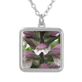 Oyster plant flower in bloom personalized necklace