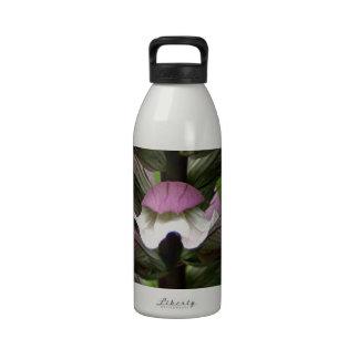 Oyster plant flower in bloom reusable water bottle