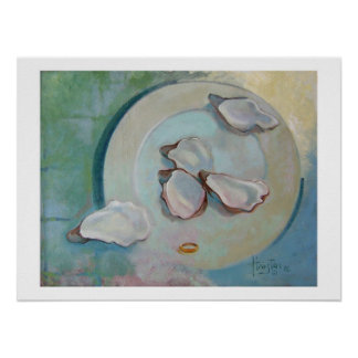 Oyster Plate Poster