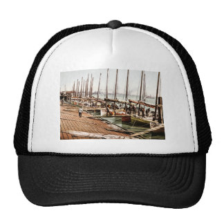 Oyster Smacks at the Levee New Orleans 1900 Trucker Hats