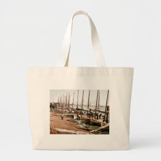 Oyster Smacks at the Levee New Orleans 1900 Jumbo Tote Bag