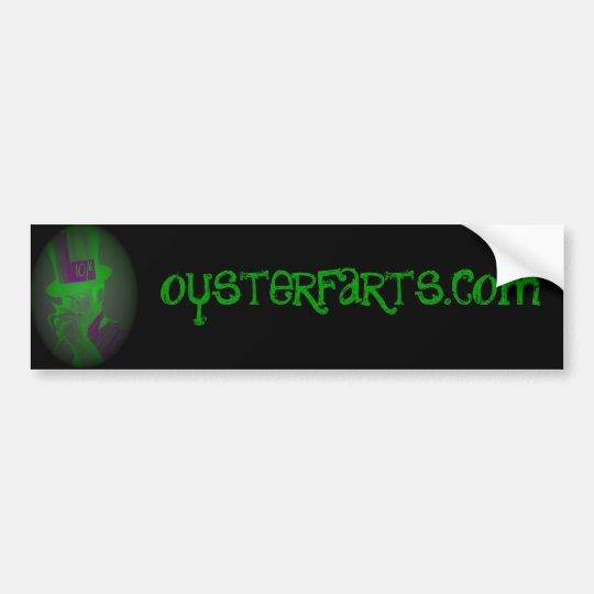 oysterfarts.com - J Hatter grn/blk bumper sticker