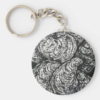 OYSTERS BASIC ROUND BUTTON KEY RING