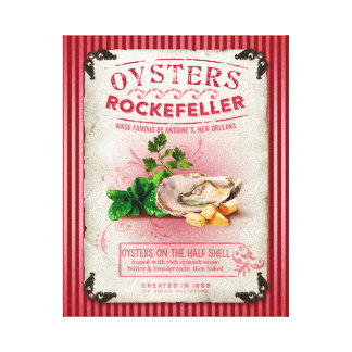 Oysters Rockefeller on the Half Shell Canvas Print