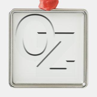 OZ - Australia white on black Christmas Ornament