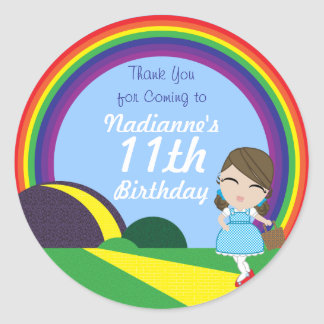 Oz BIRTHDAY custom Dorothy keepsake labels