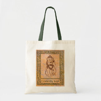 Oz Cowardly Lion tote bag