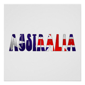 OZ flag Australia flag logo Poster